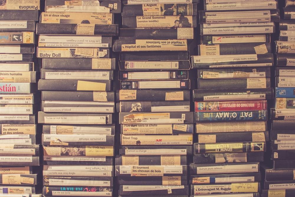 VHS tape lot