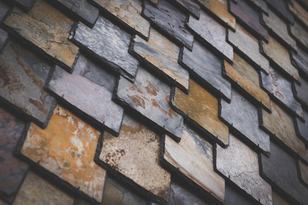 brown and gray bricks