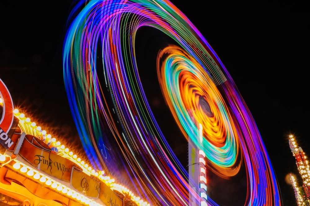 time lapse photography of Ferris wheel