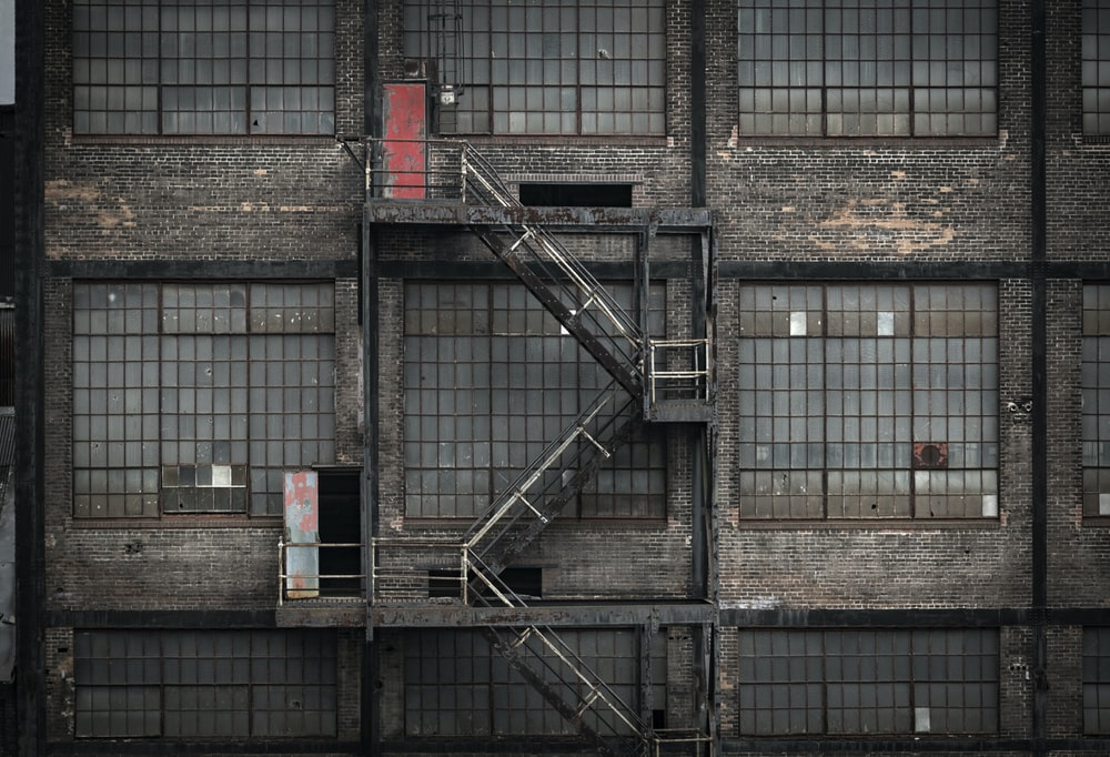 photo of building's emergency ladder