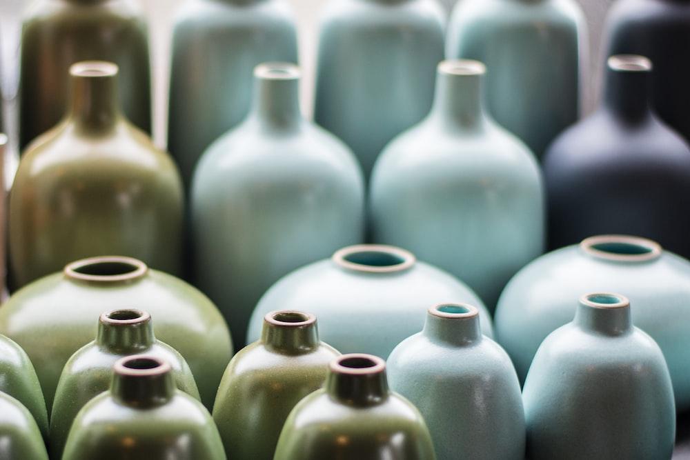 filed stoneware jugs