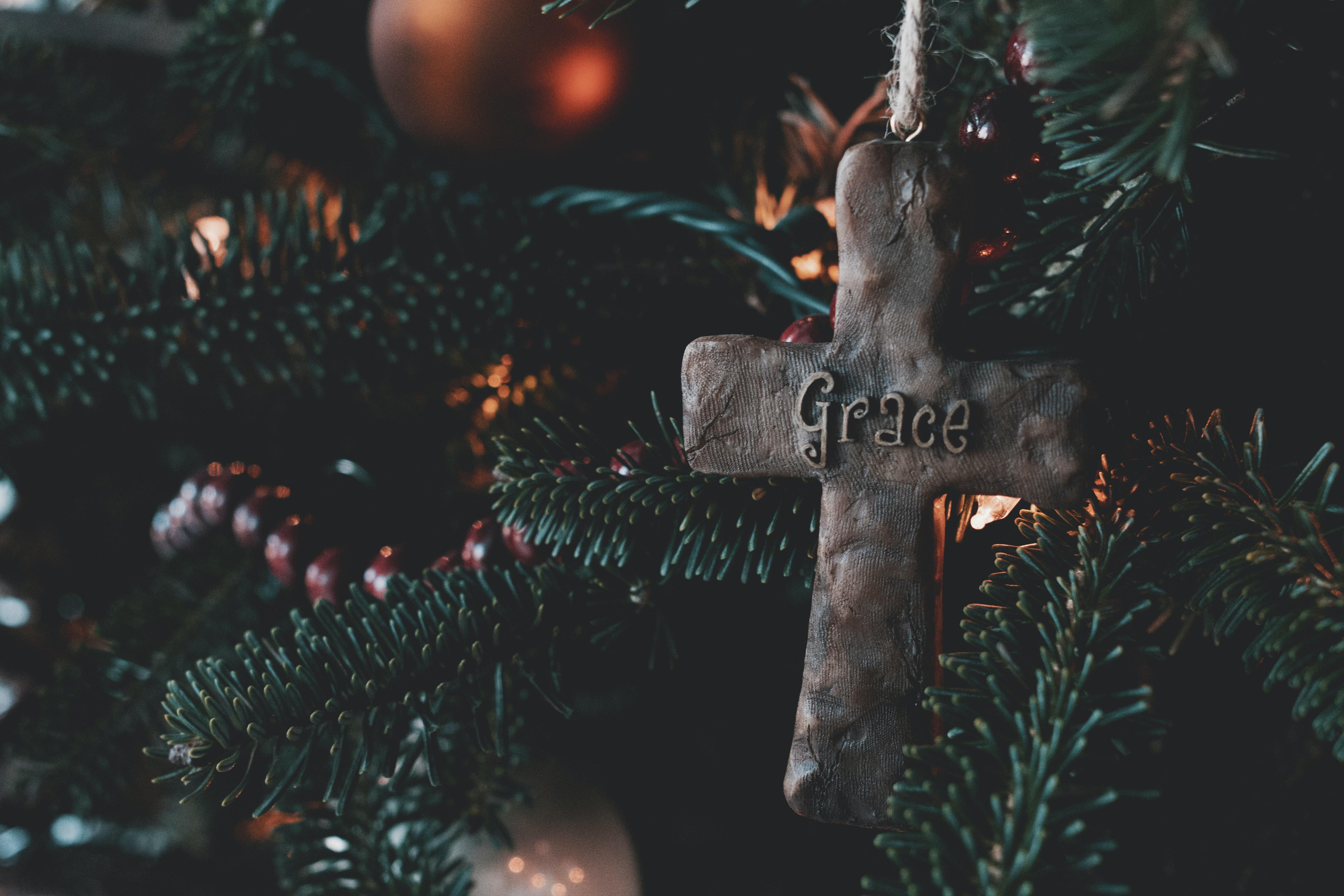 brown cross ornament