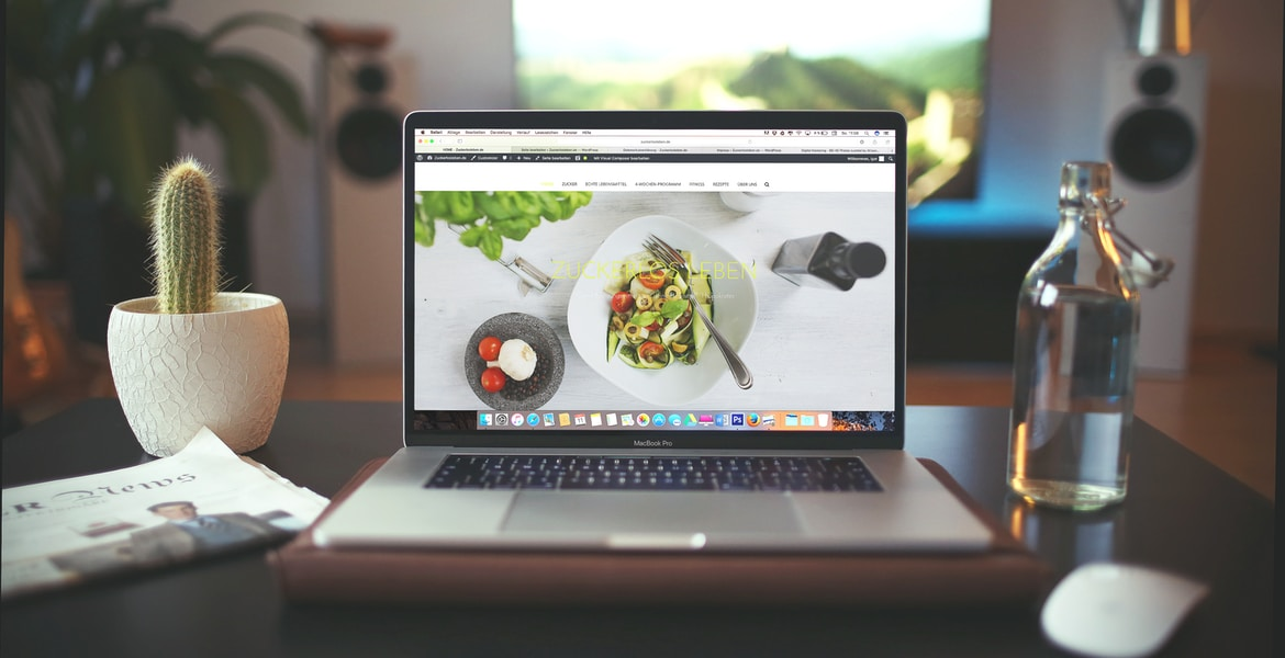MacBook Pro showing vegetable dish