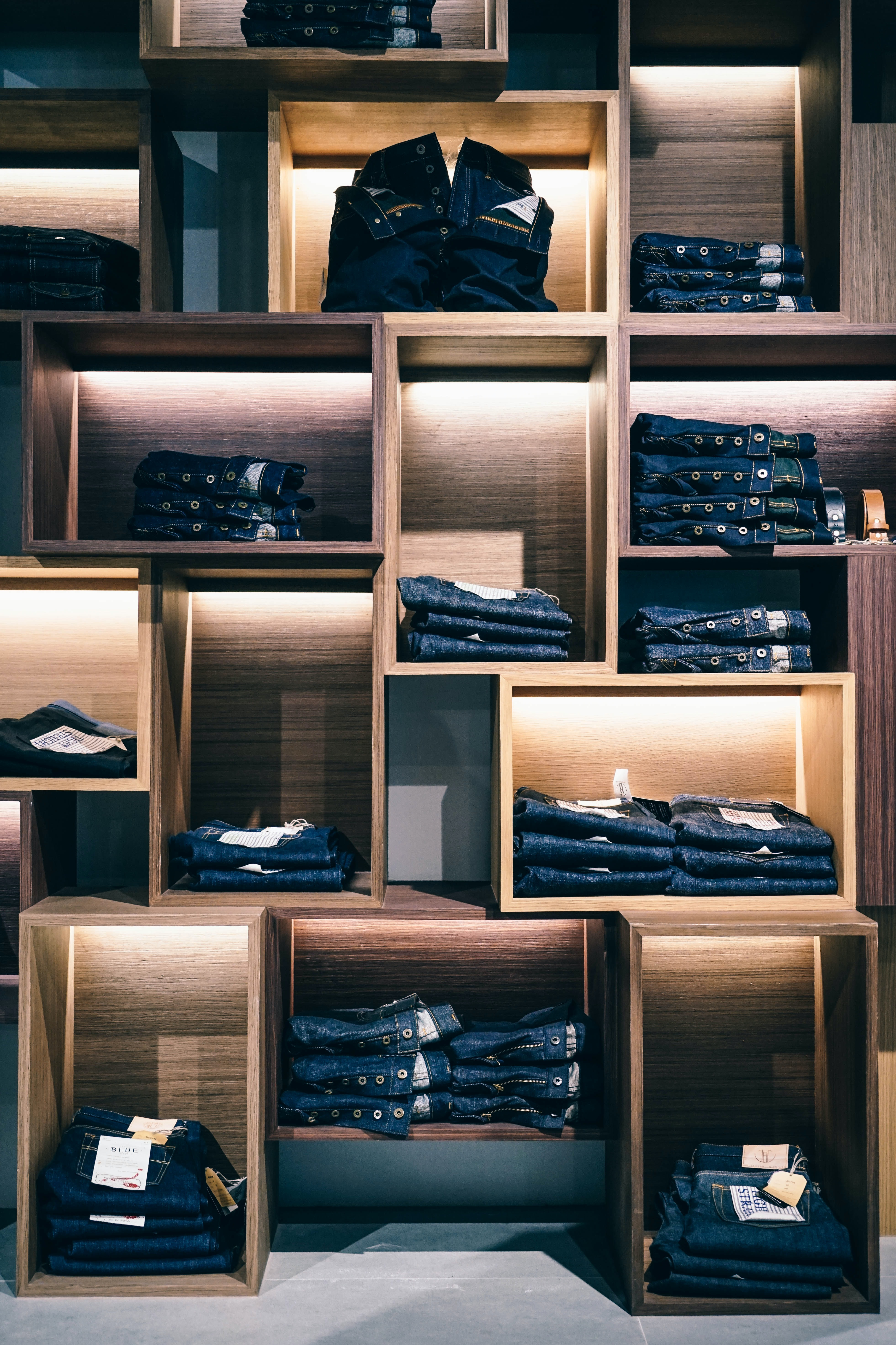 Clothing at a store.