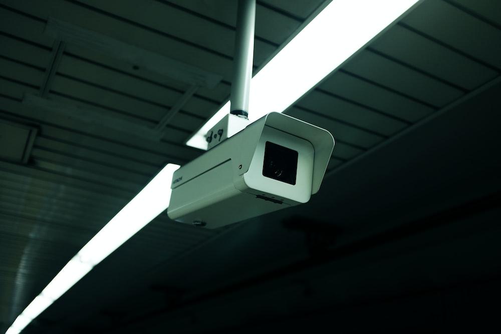 white security camera