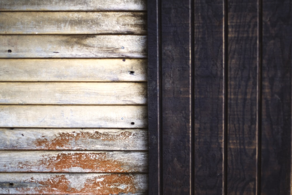 white and brown wooden panels