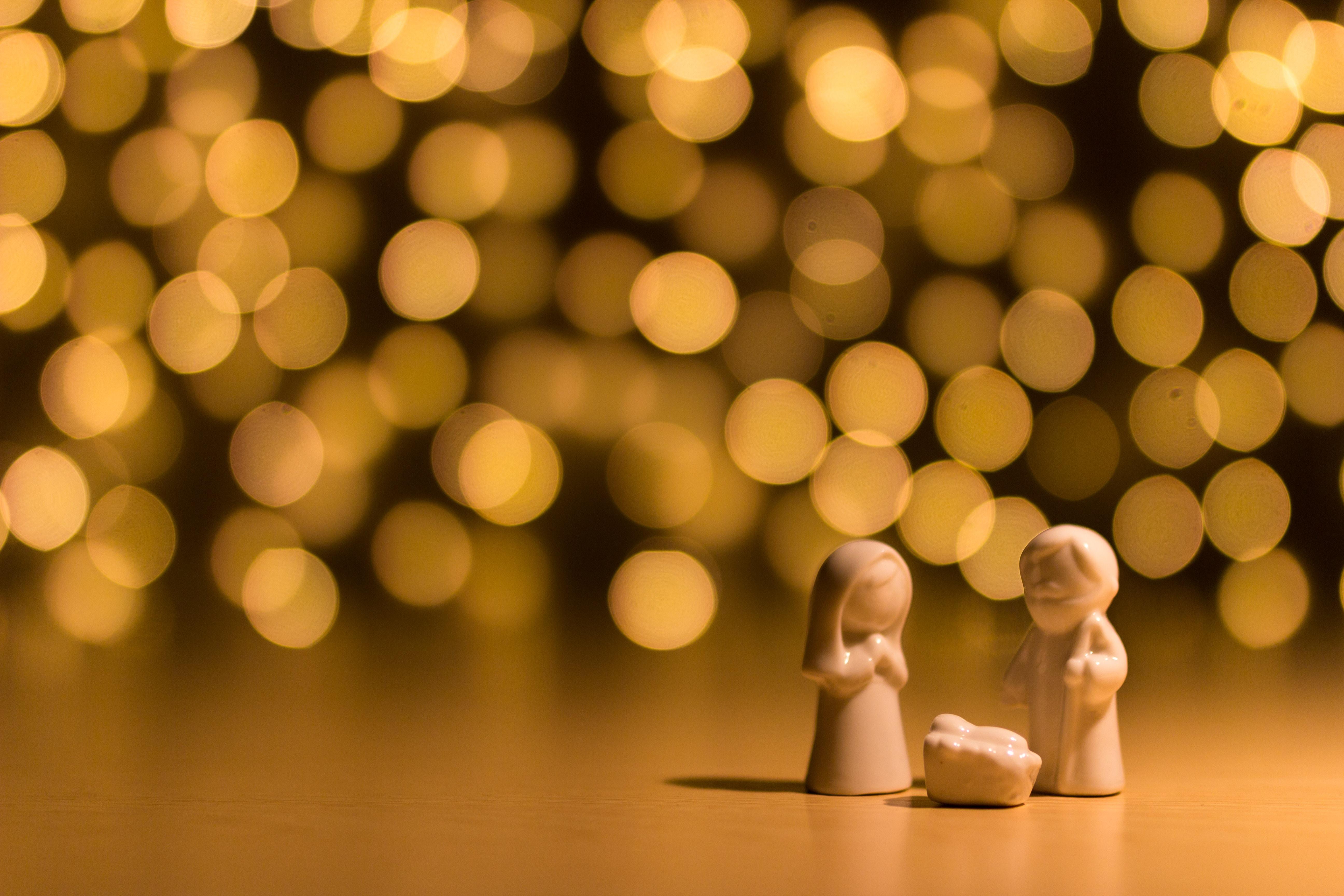 shallow focus photo of the Nativity figurine