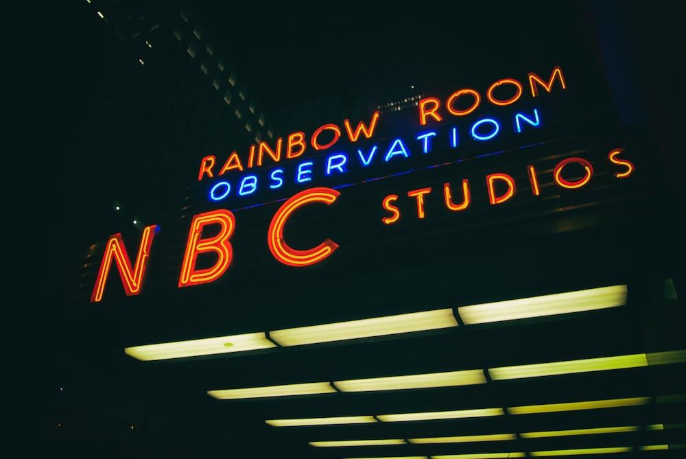 rainbow room observation NBC studios LED light turned on