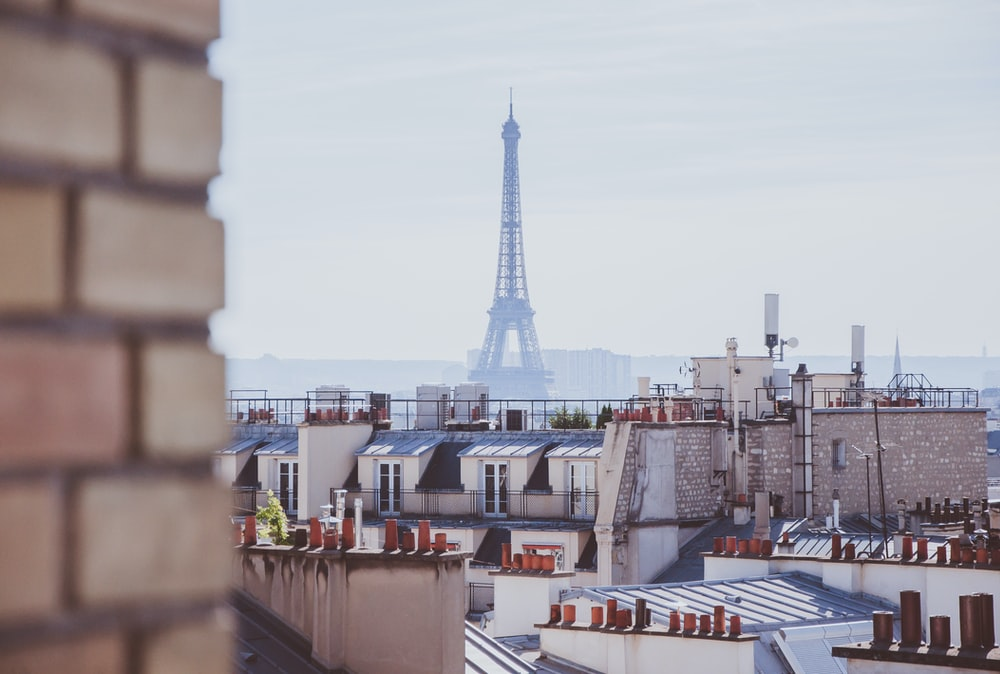 Eiffel tower in the city