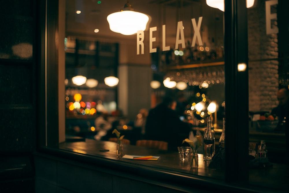 person sitting inside restaurant