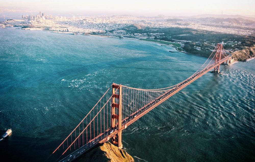 drone view golden gate bridge photo by denys nevozhai dnevozhai