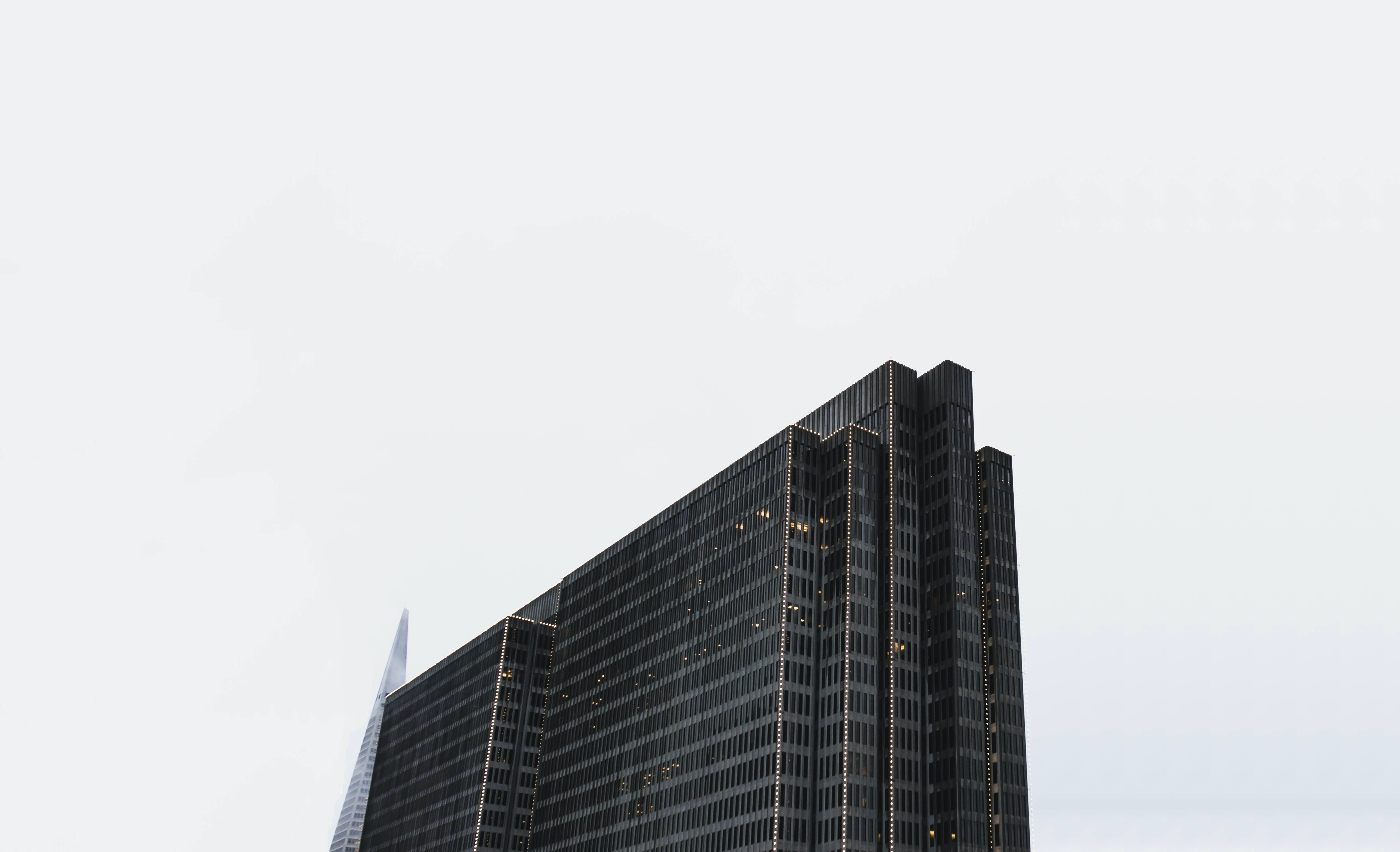 bird's eye views of building under cloudy sky