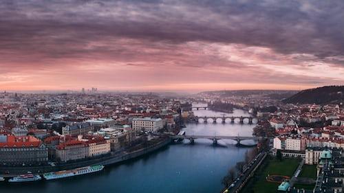 Prague in Christmas