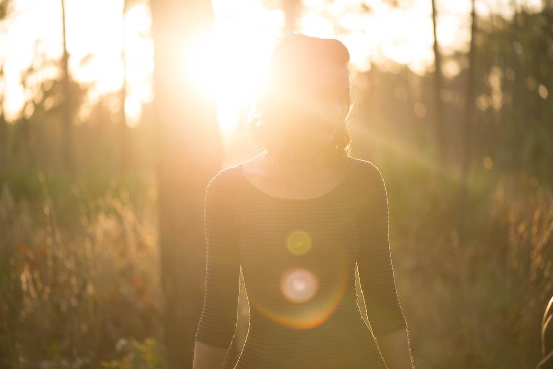Woman in blinding sun