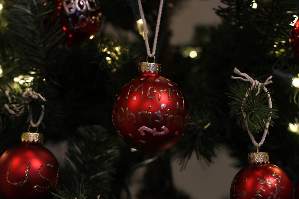 Red Christmas Tree Decorations Hd Photo By Jeremy Bishop