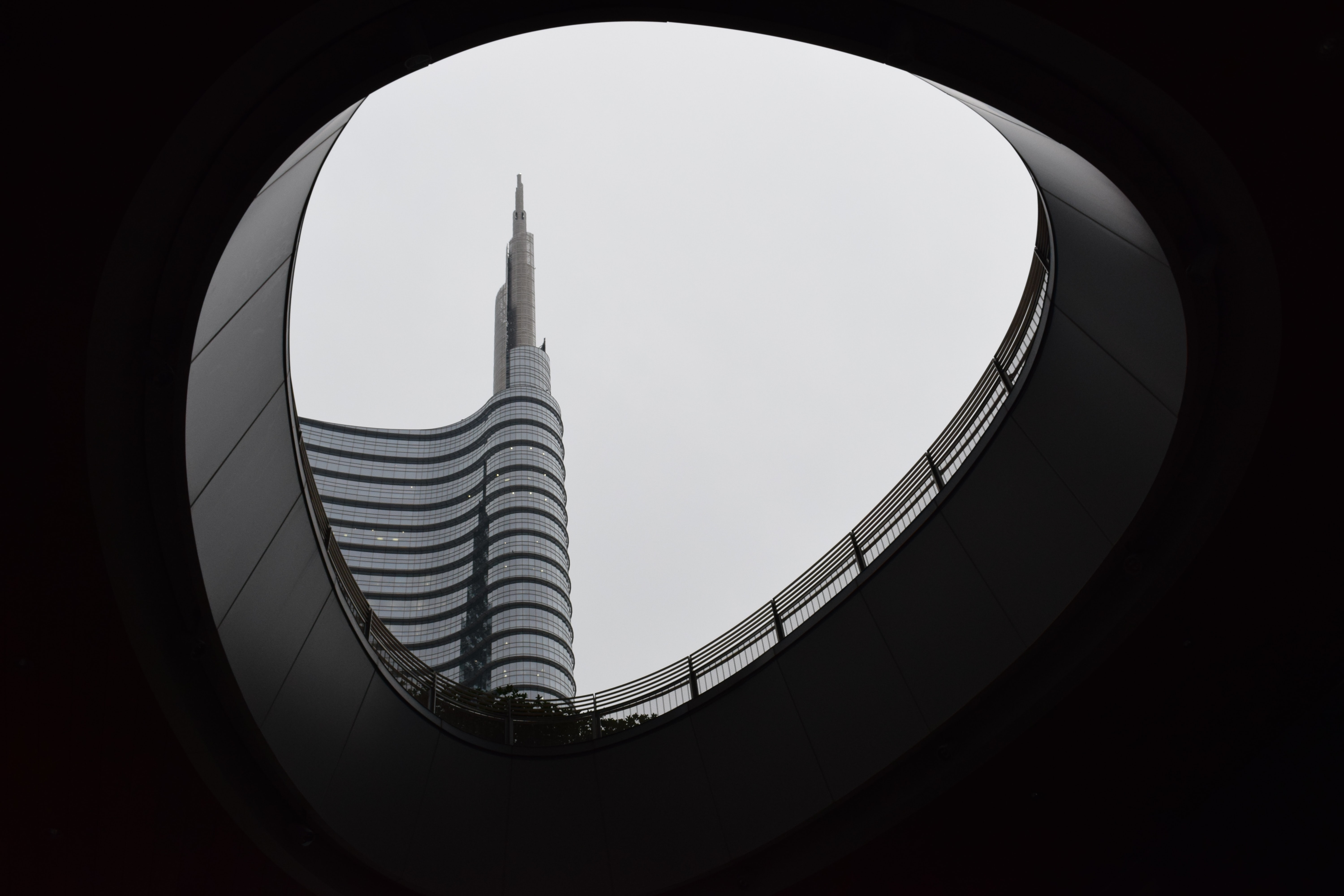 worm's eye view of building