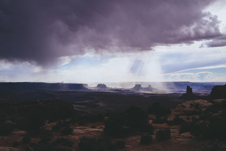 long exposure photography of grey cloud