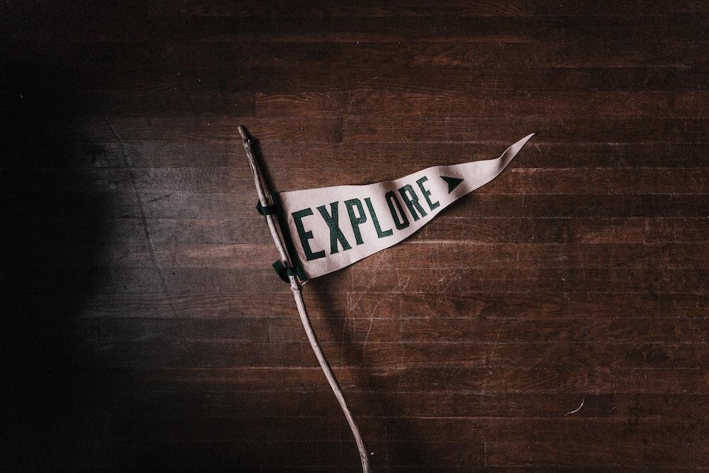 white Explore flag