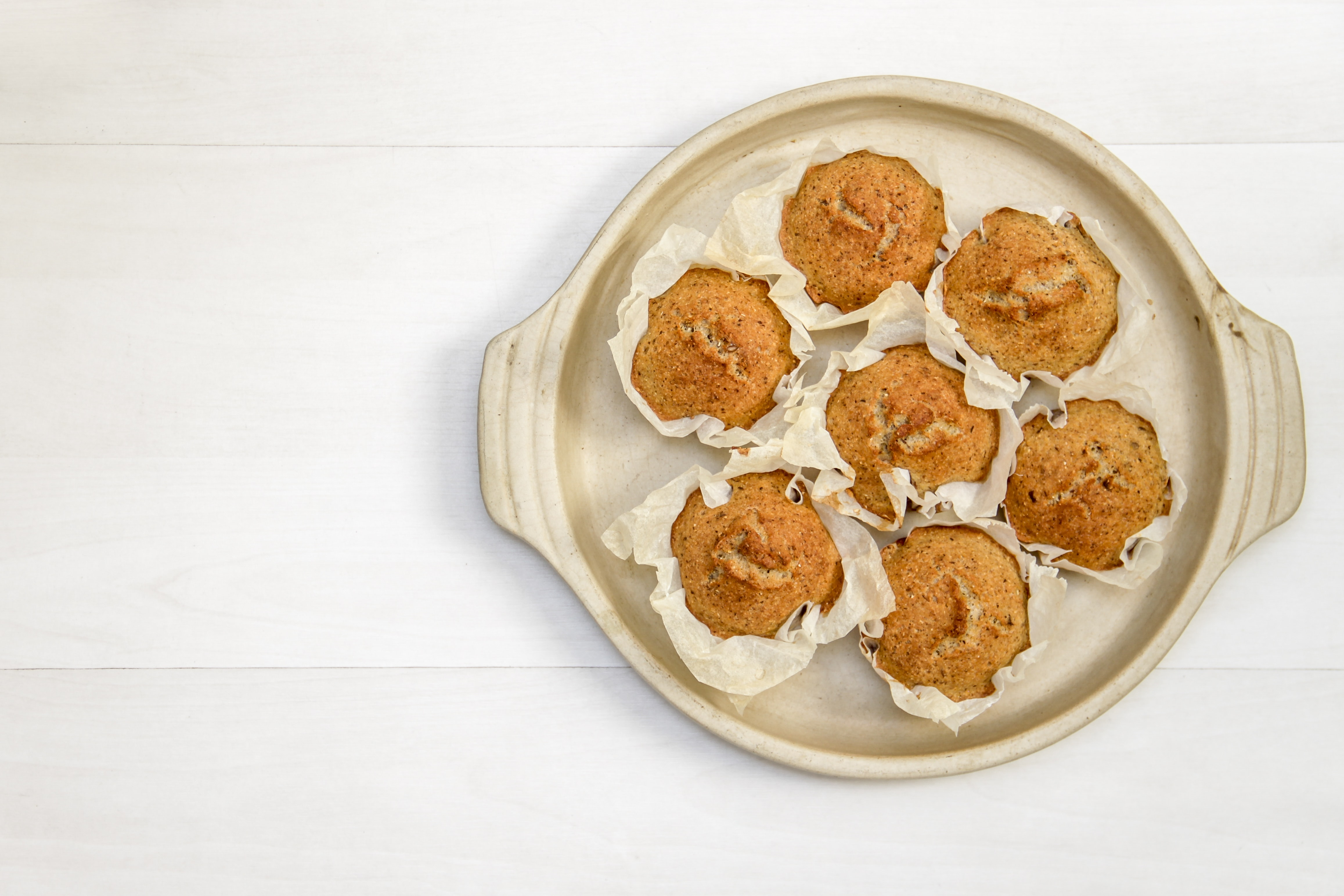 cupcakes on brown plate