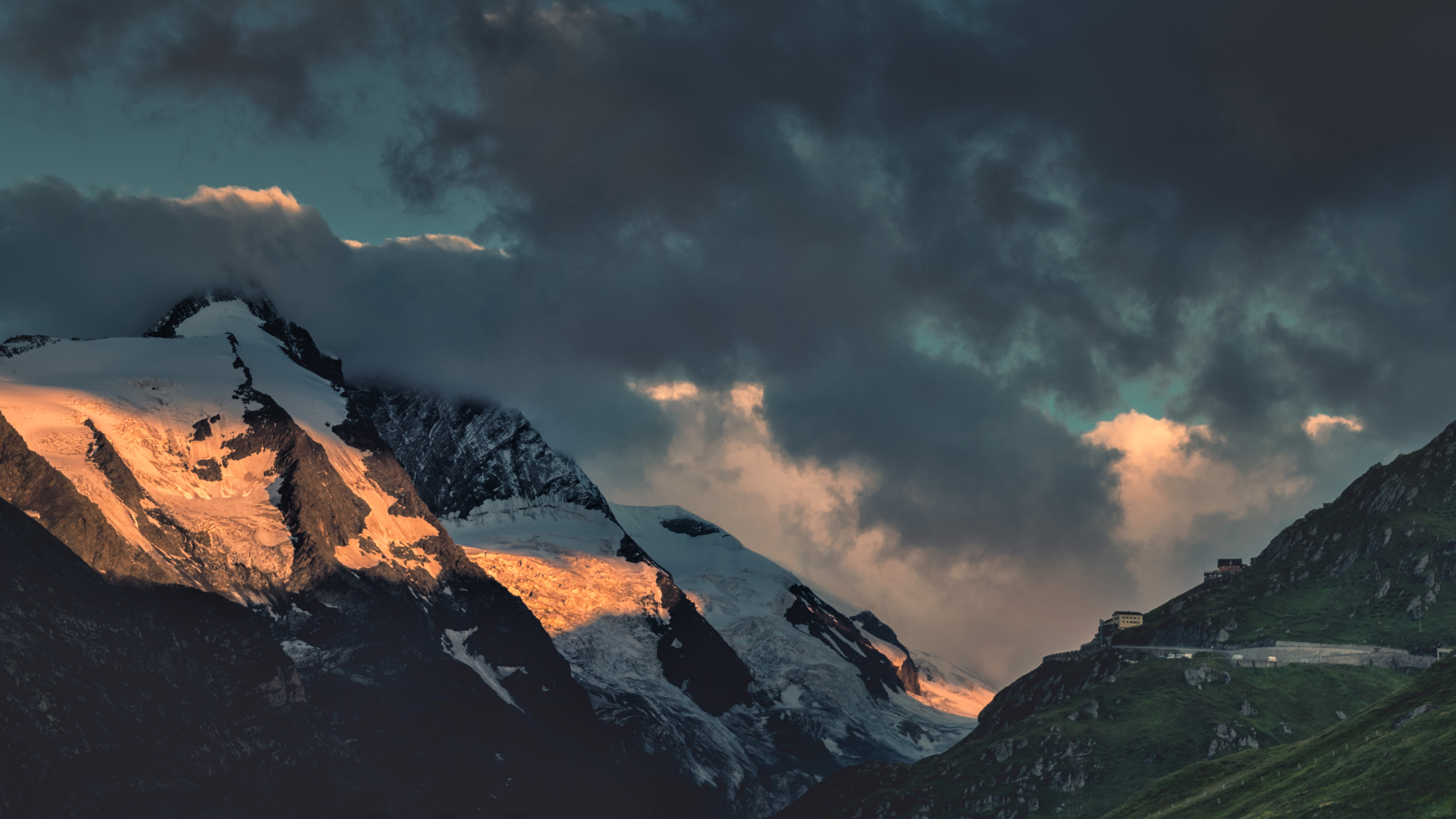 photo of mountain covered with snow