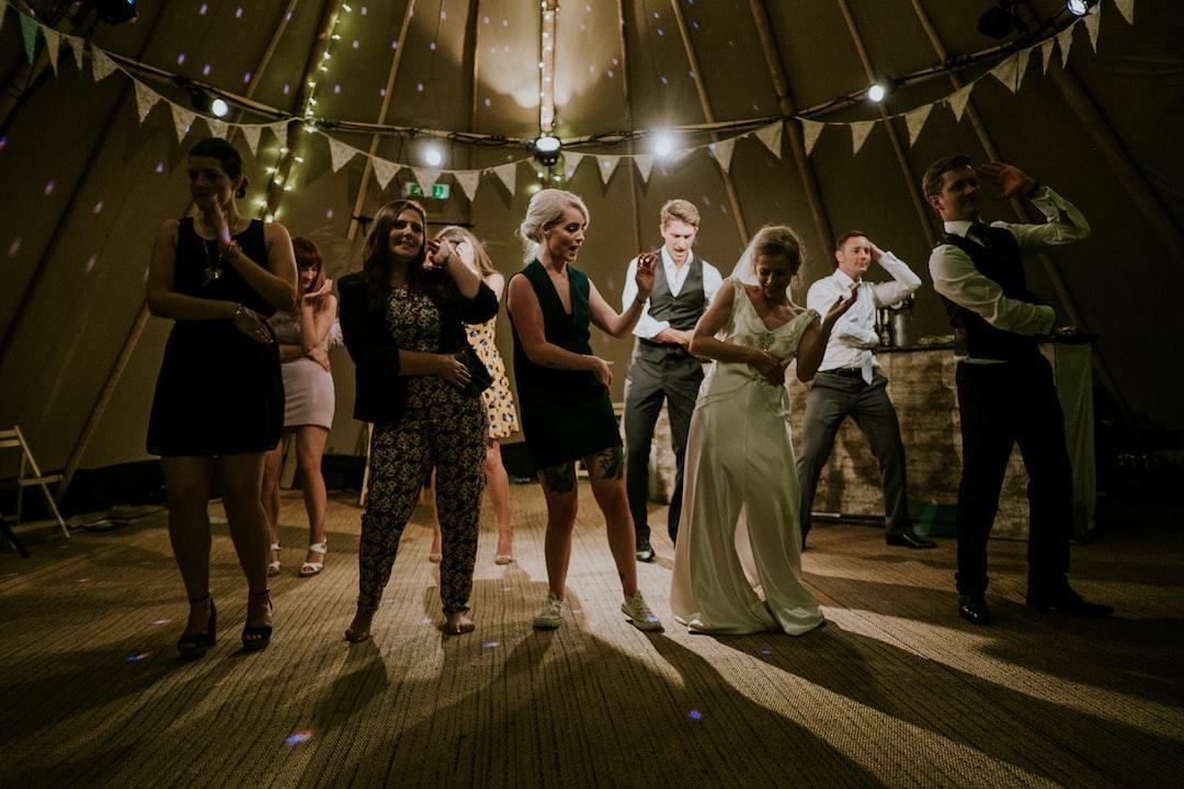 Wedding marquee dance