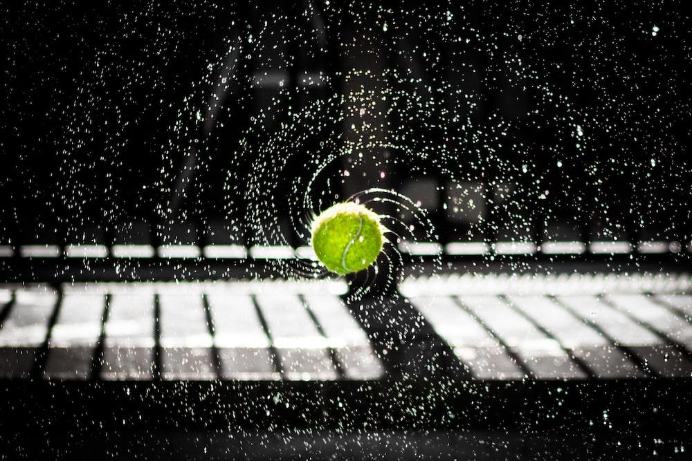 time lapse photo of tennis ball