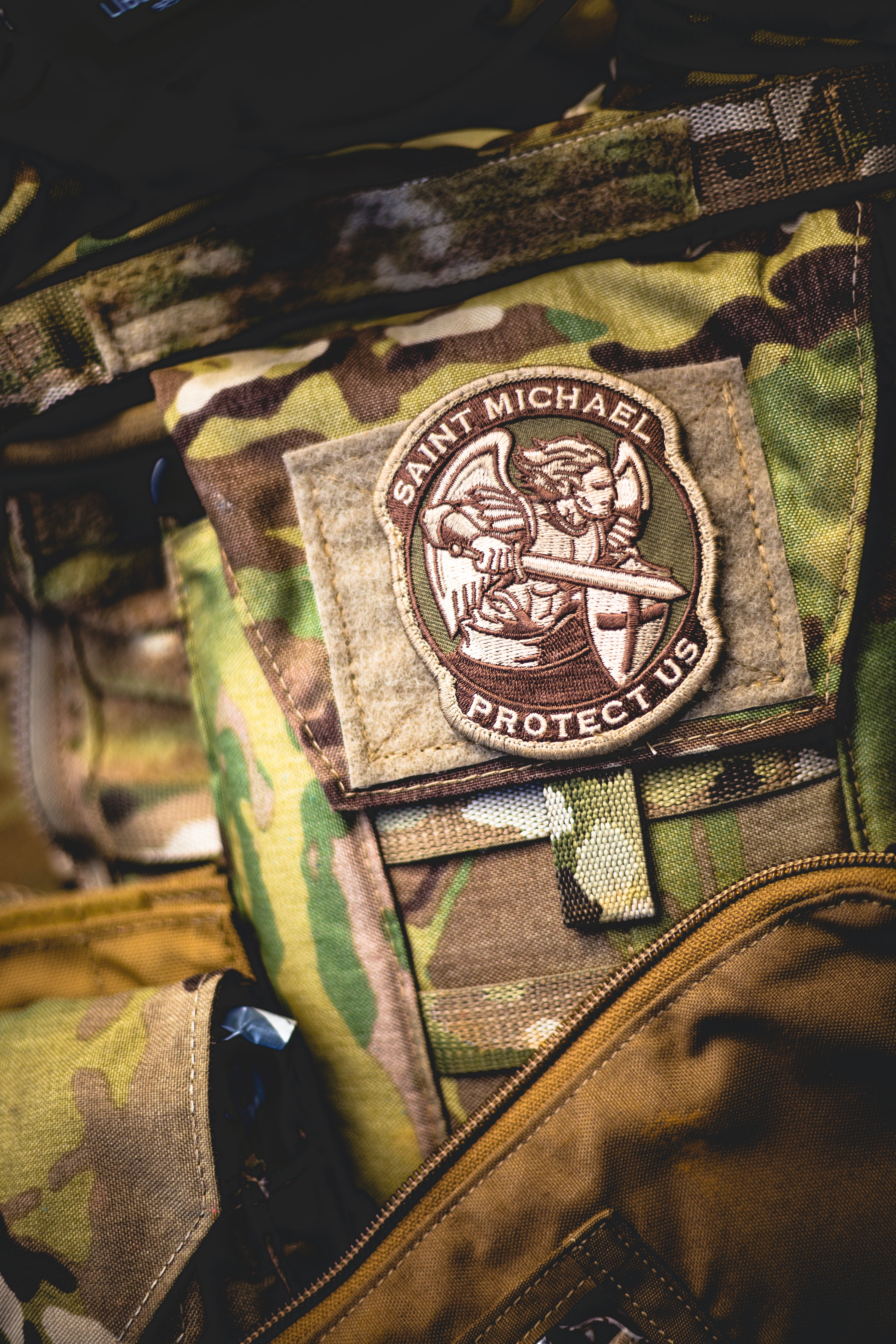 St. Michael military patch.