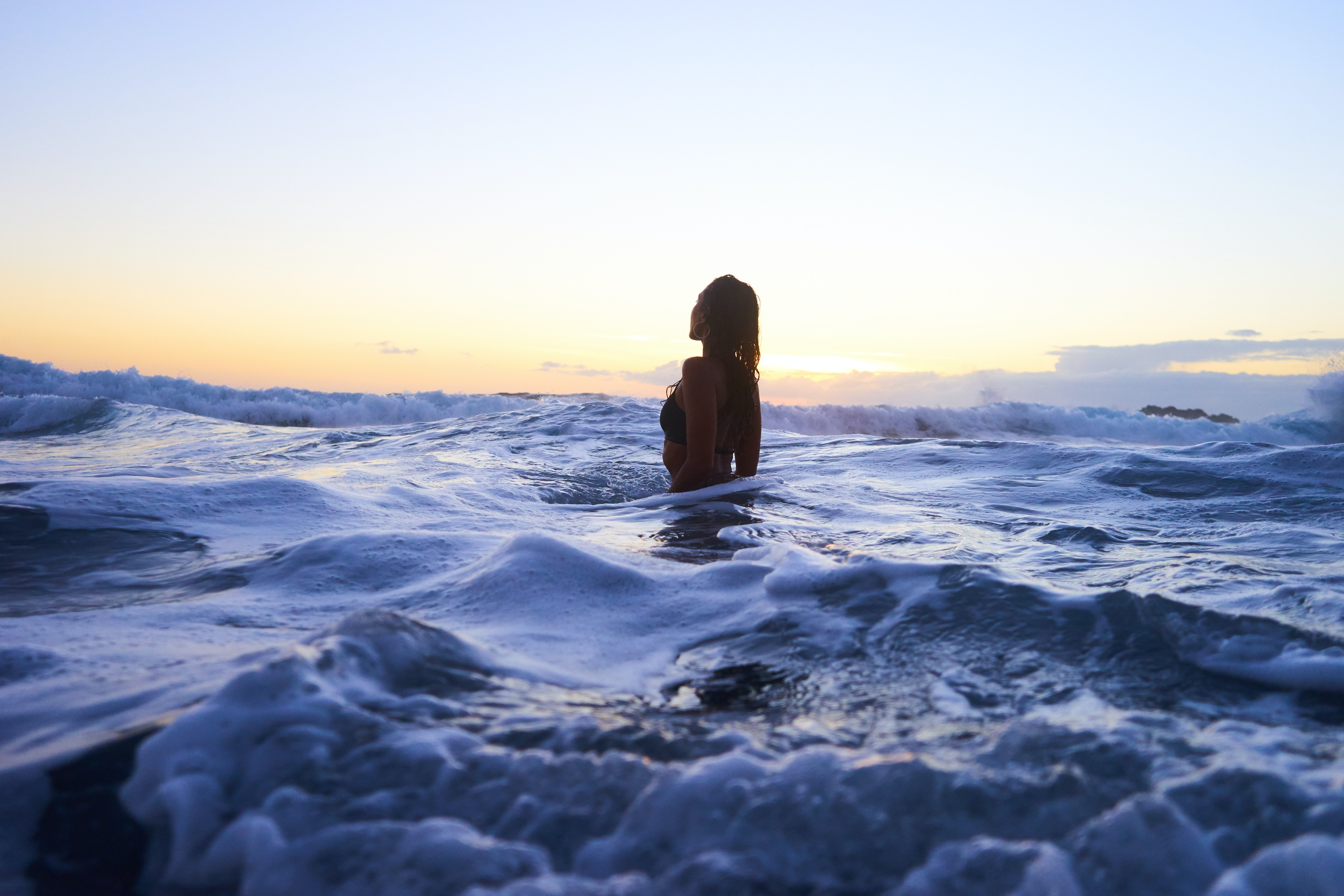 woman in body of water