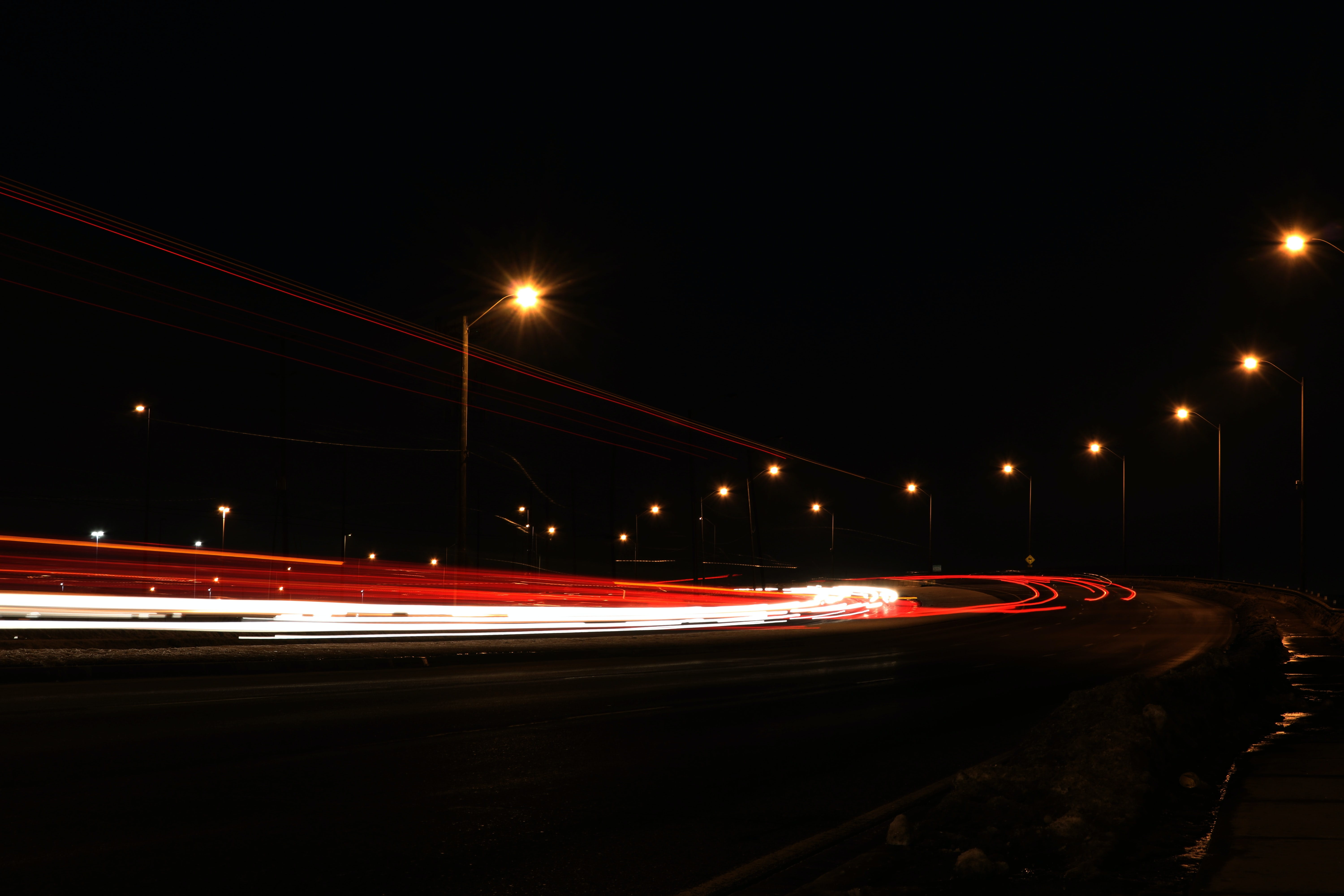 timelapse photography of vehicles during nighttime