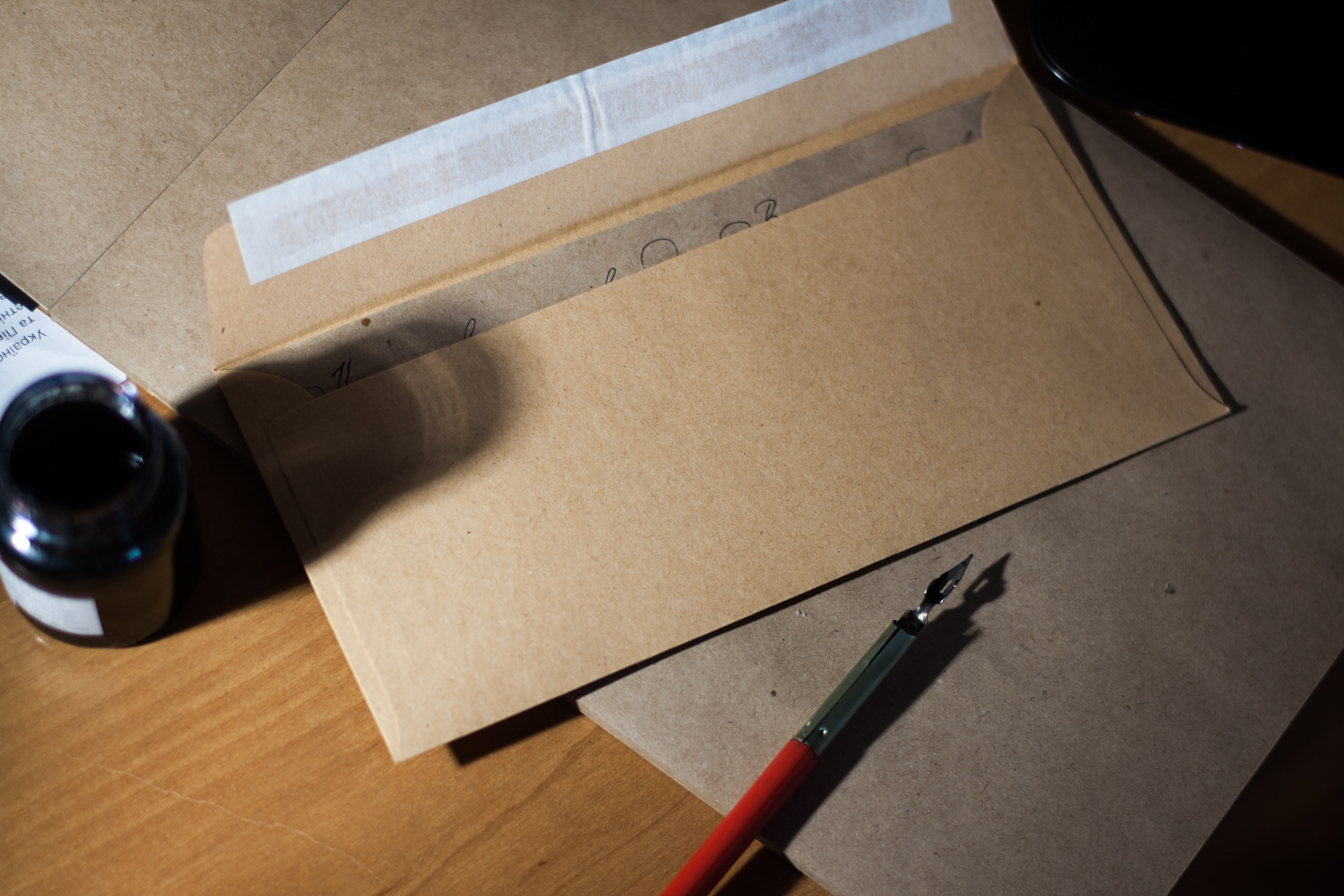 A strong brown envelope.