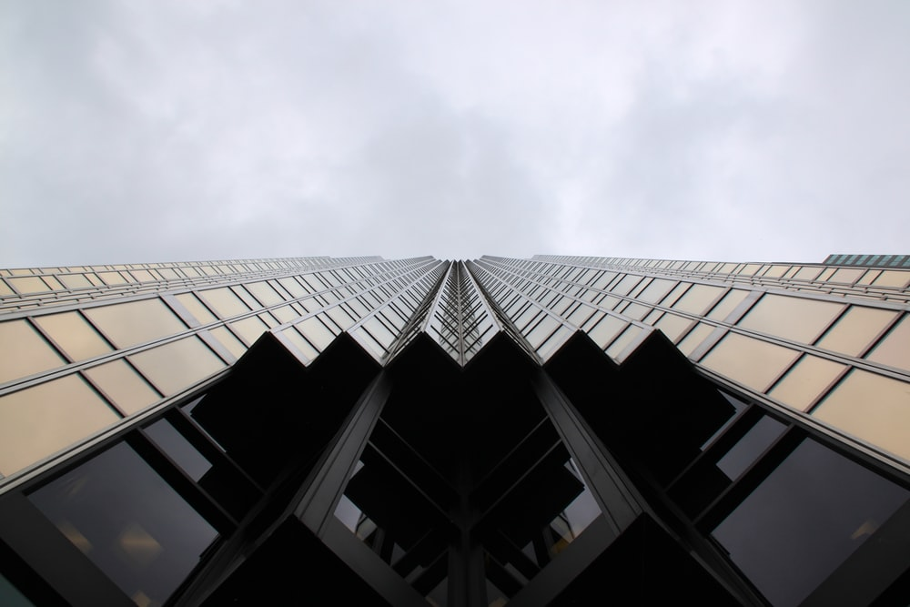 worm's eye view of high rise building