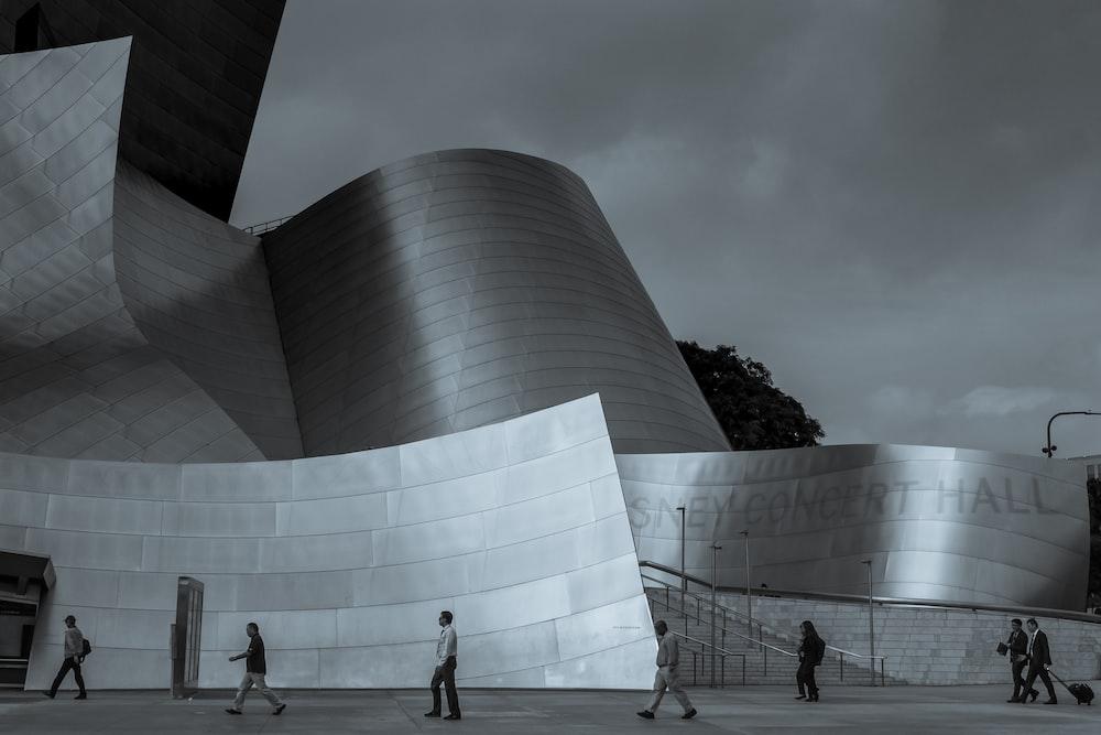 people near Guggenheim Museum