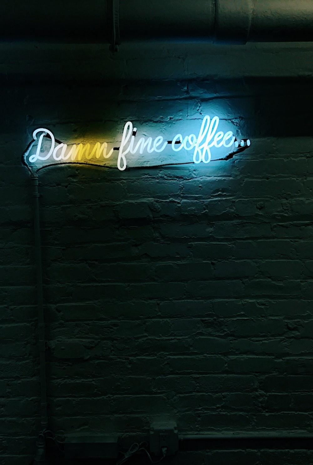 damn fine coffee neon signage