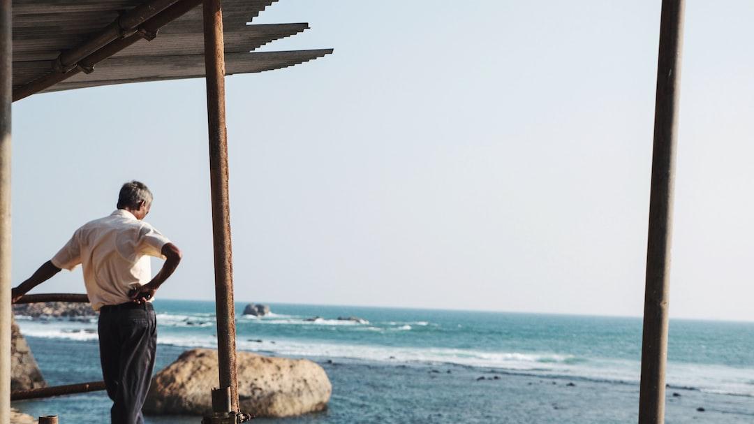 Man by the ocean