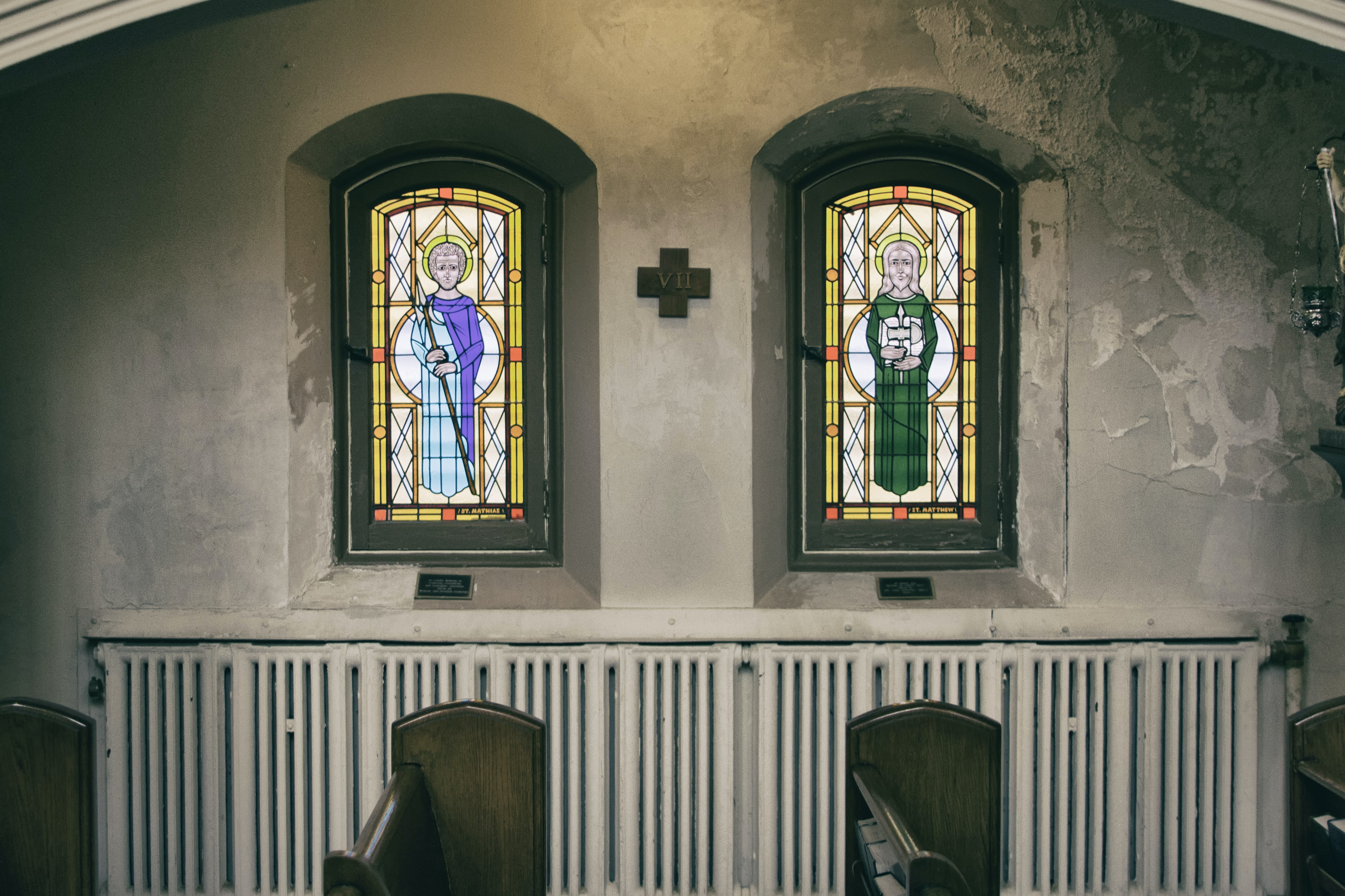 Two painted church windows.