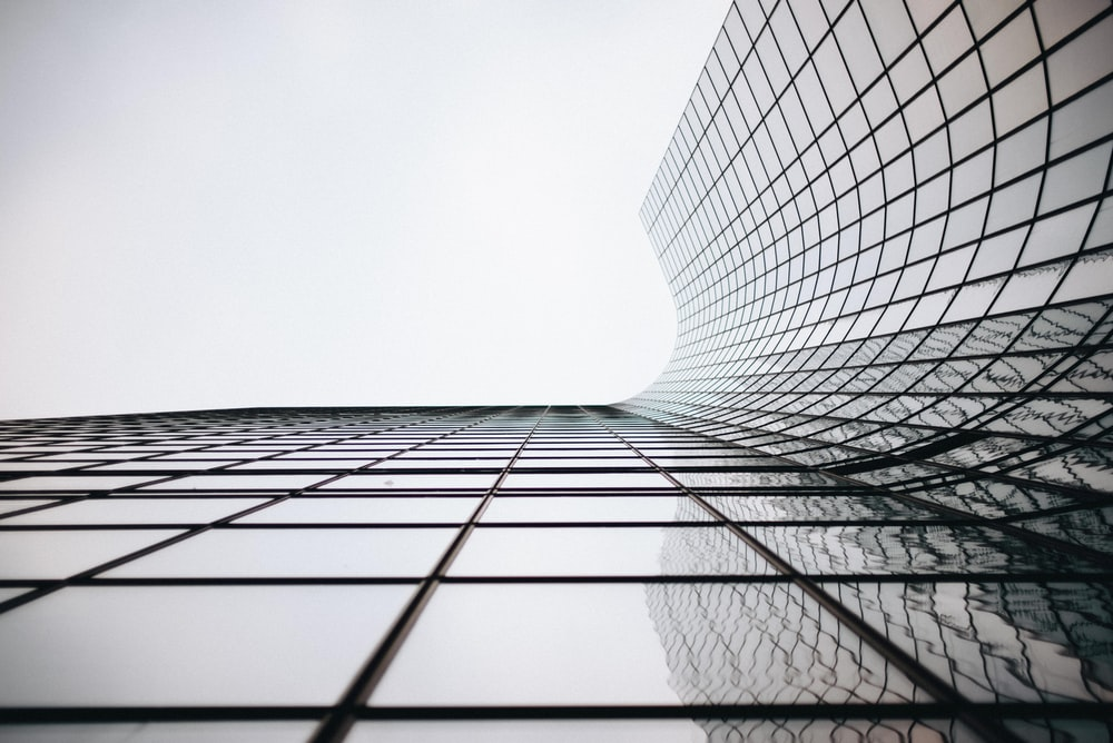 architectural photograph of building curtain wall