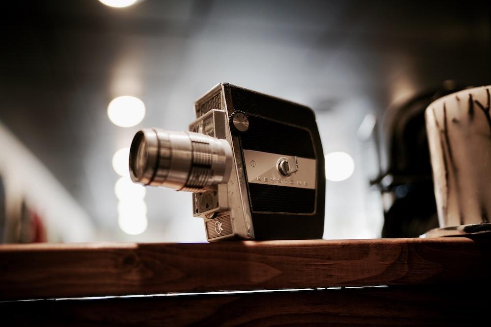 black and gray folding camera
