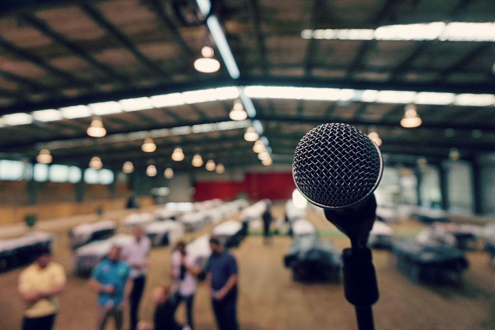 microphone with tripod photo