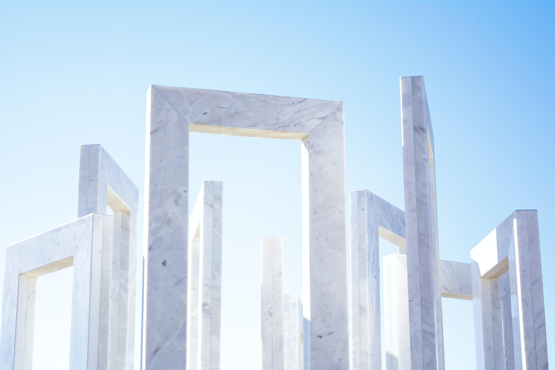 gray stone frames