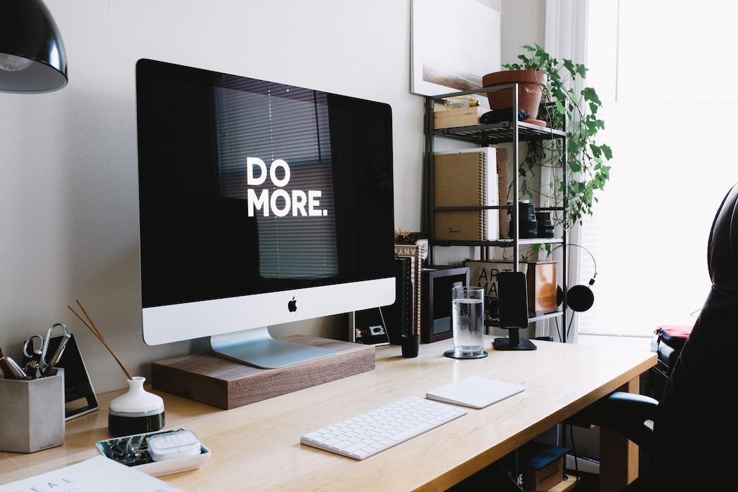 """Desktop computer screen reading """"Do More."""""""