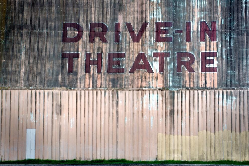 Drive-In Theatre signage non wall