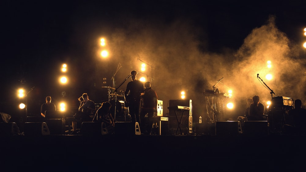 photo of band playing on stage