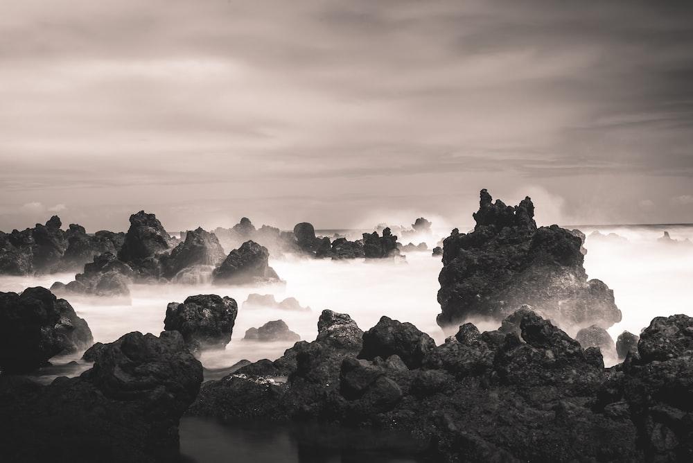 landscape photography of ocean waves crashing rocks