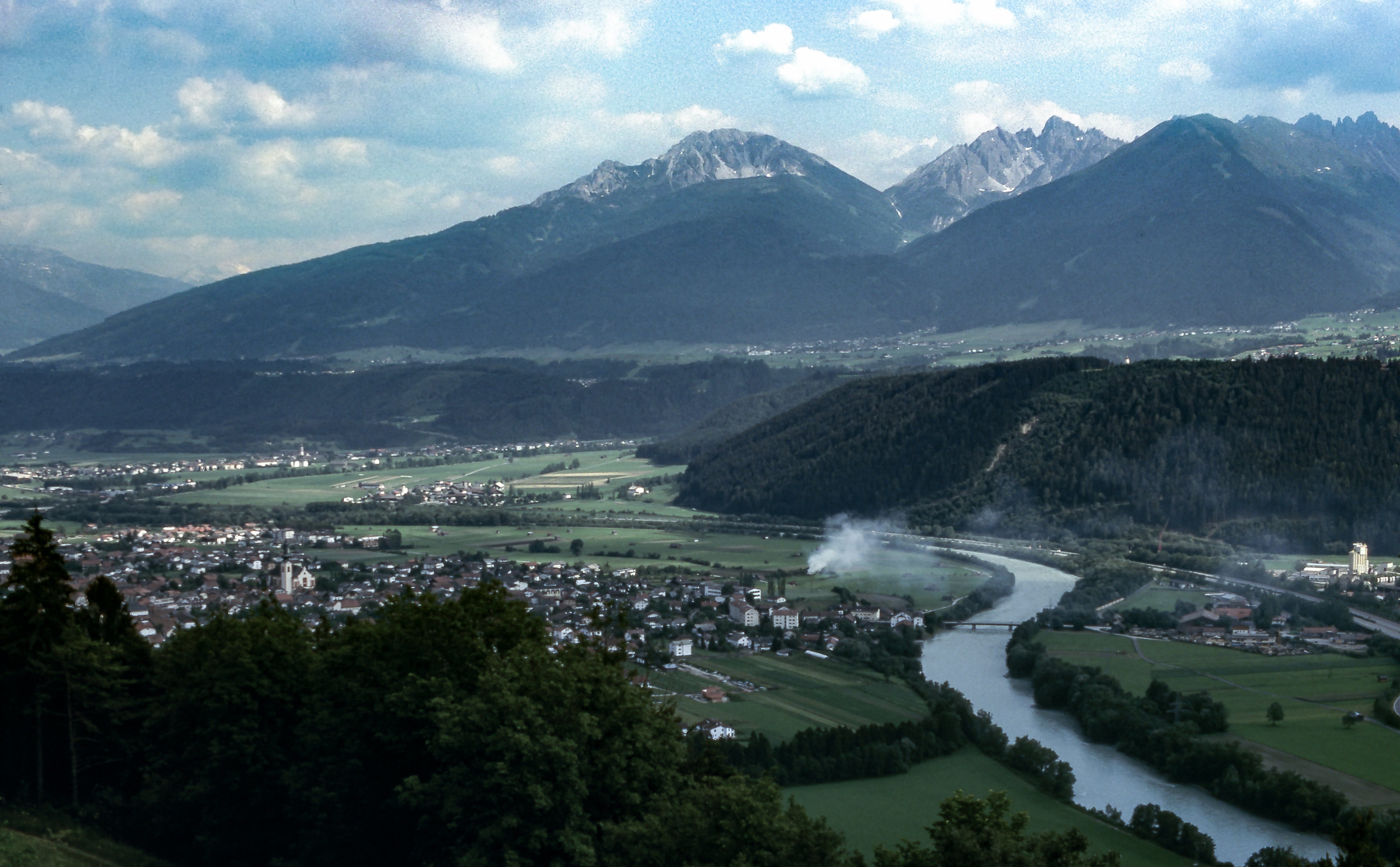 aerial photography of mountains and river