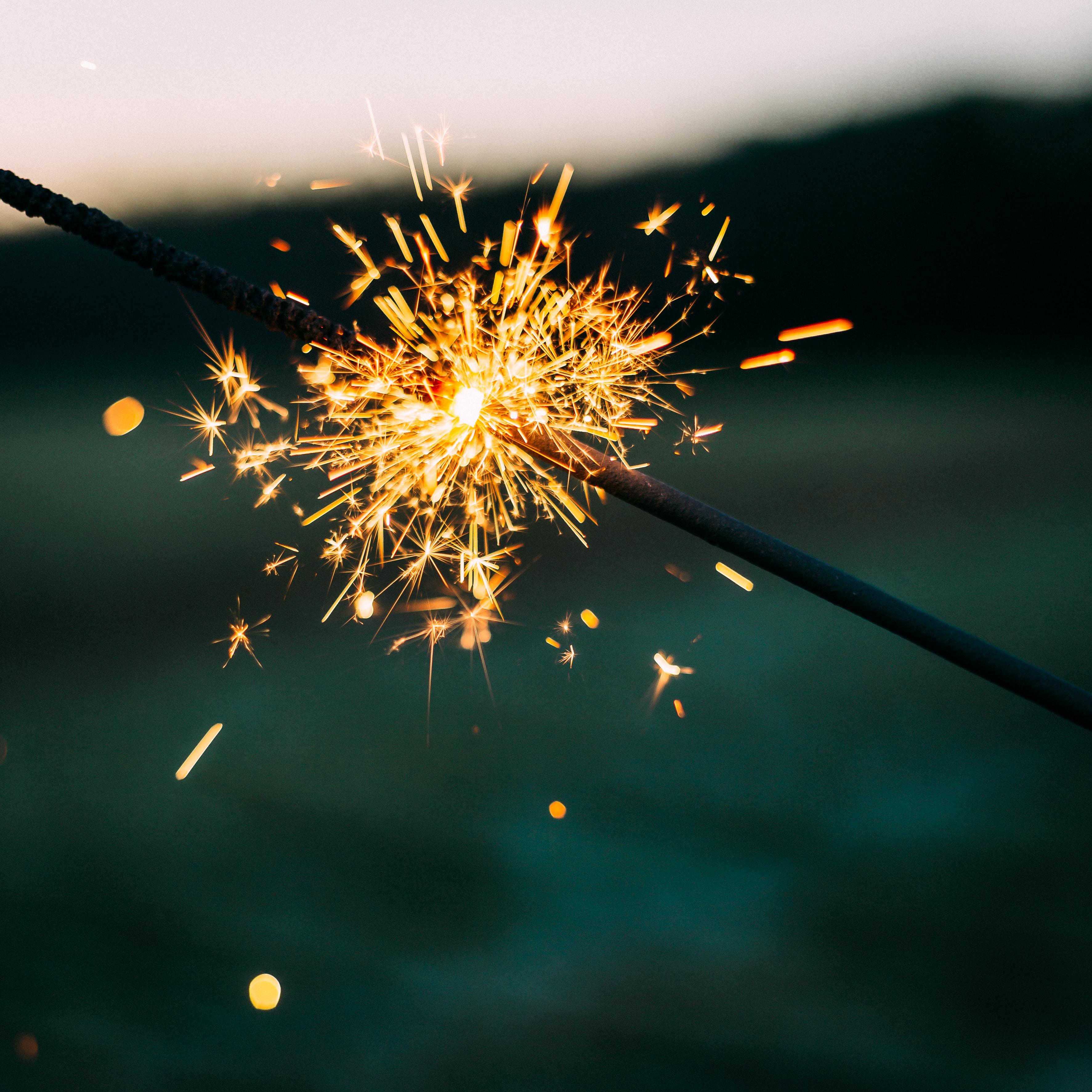 A sparkler burning out in Bonn