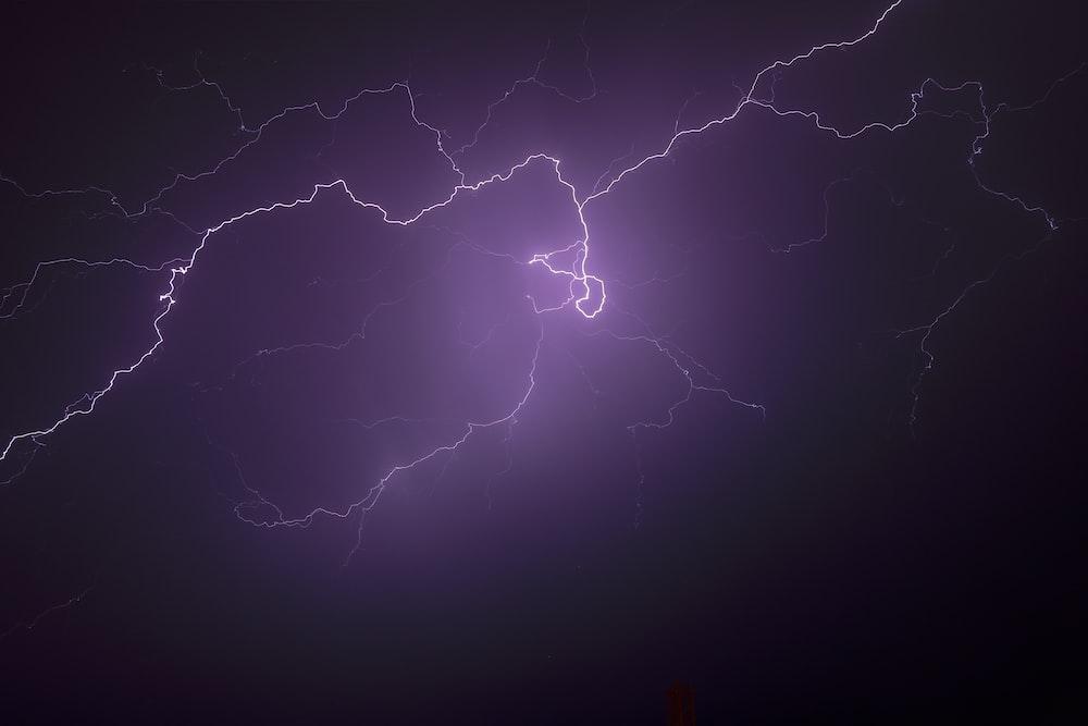 lightning during nighttime