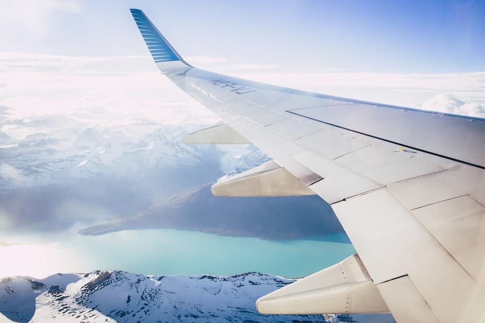 window plane wing photography