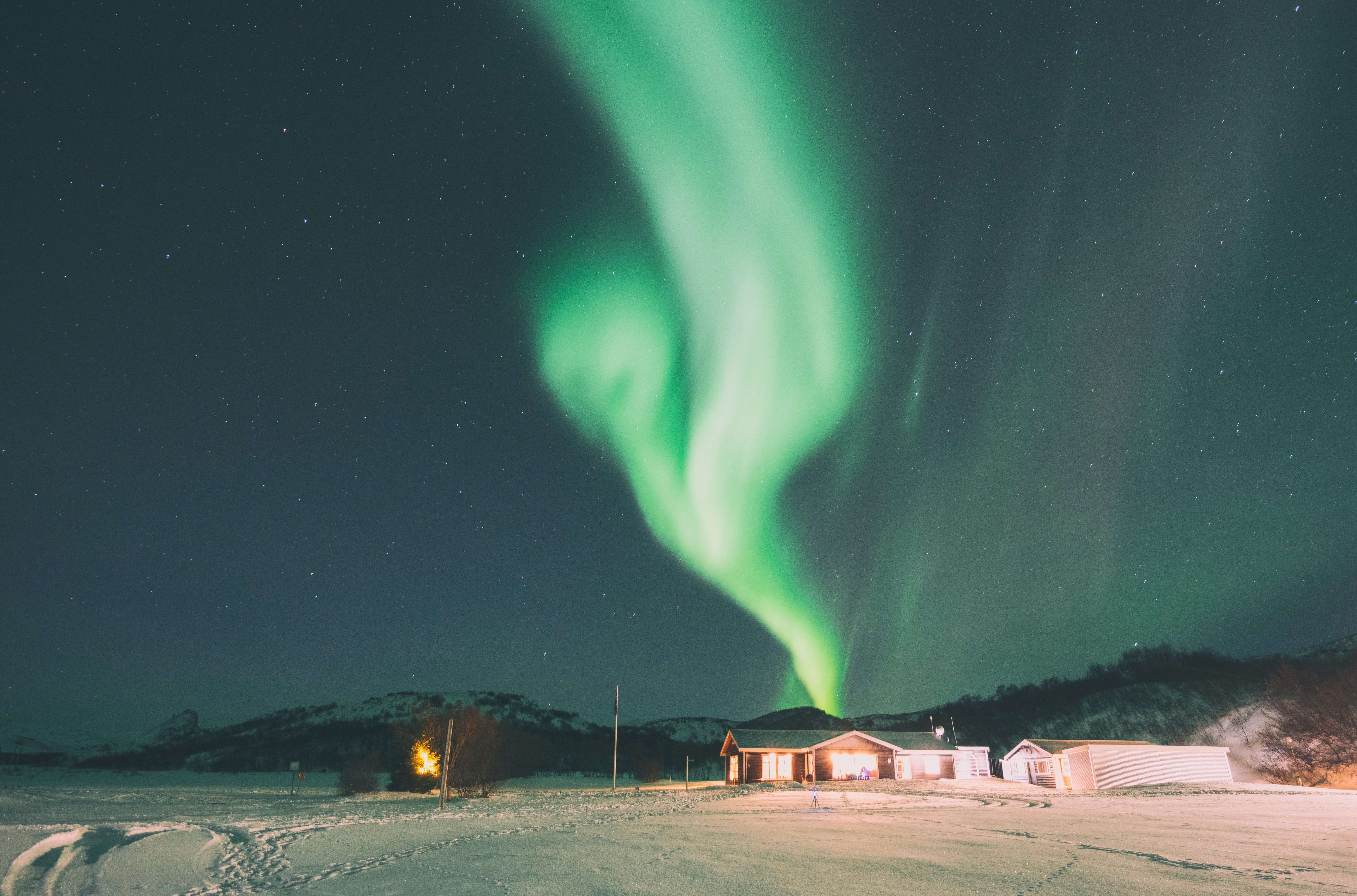 aurora borealis during winter