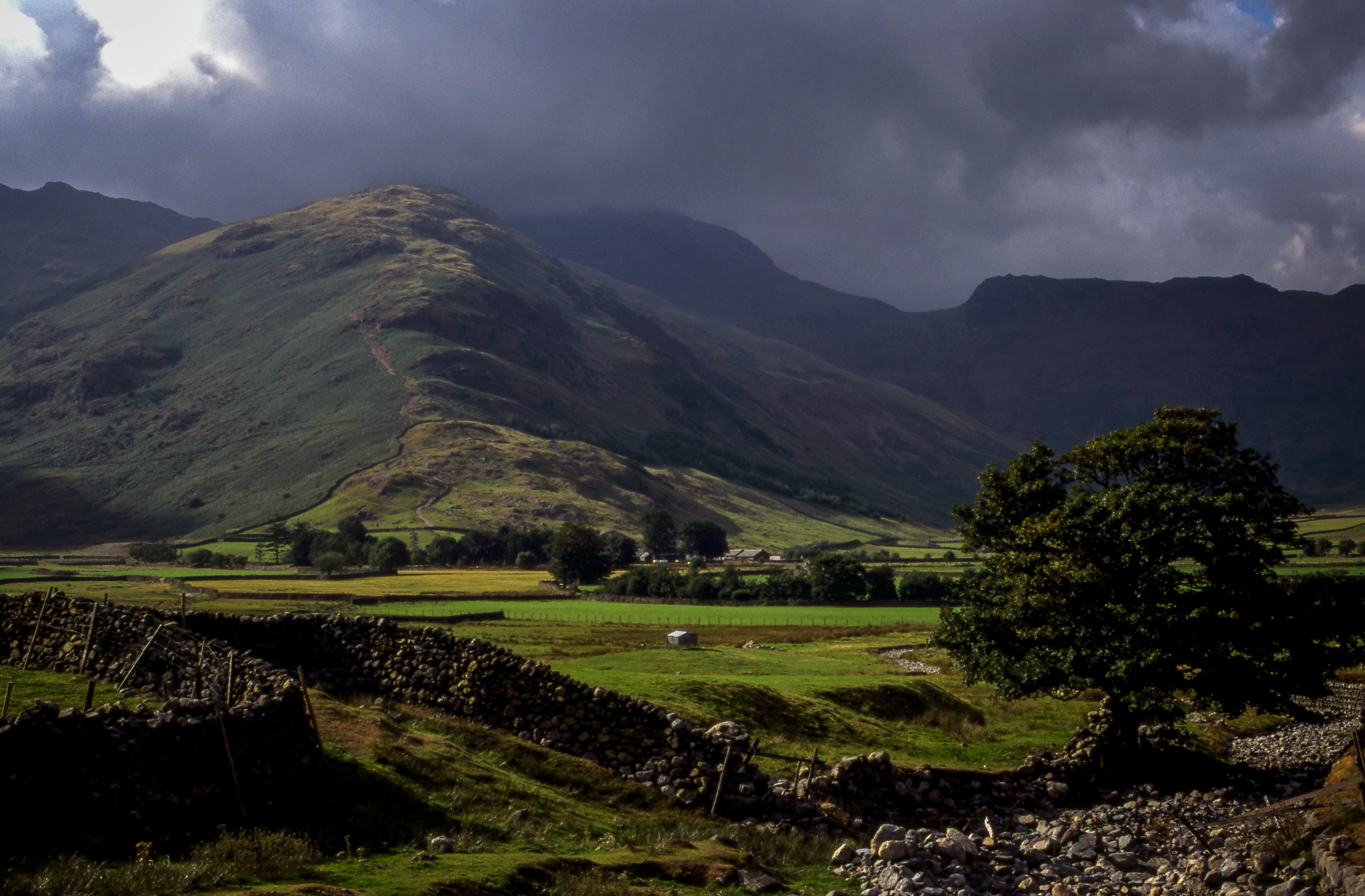 landscape photography of green and brown mountains