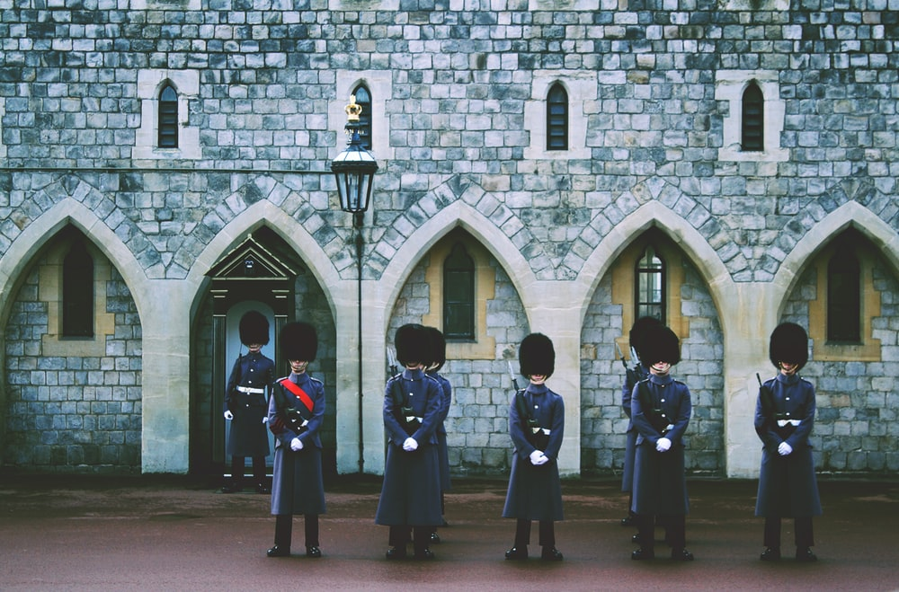 Royal Guard outside building